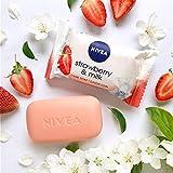 NIVEA Strawberry & Milk Pflegeseife (1 x 90 g), cremige Seife mit verwöhnendem Erdbeerduft, Handseife als Schutz und für hygienisch saubere Hände - 2