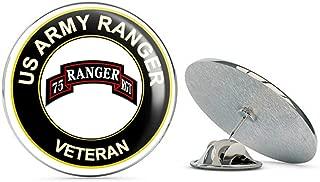 U.S. Army Veteran Airborne Rangers Metal 0.75
