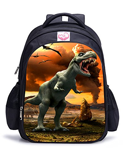 Memoryee Dinosaurio 3D Impresión Realista Childrens Backpack Kindergarten Primary School Mochila Escolar Mochila de Lona Laptop Book Satchel Bolsa de Caminata - 15L / 32 x 17 x 42 cm (Dinosaurio06)