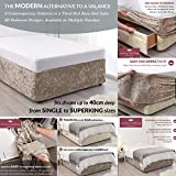 <span class='highlight'>viceroy</span> <span class='highlight'>bedding</span> BED WRAP Crushed Velvet Divan Bed Base COVER Alternative to Valance Sheet Skirt Elasticated Easy To Fit - Wraps Itself Around The Base Of Your Bed (Beige Taupe, 6ft Super King)