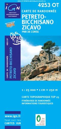 Korsika Petreto-Bicchisano - Zicavo - Parque National de la Corse 1 : 25 000
