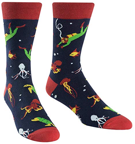 Sock It To Me Men's Underwater Explorer Crew Socks