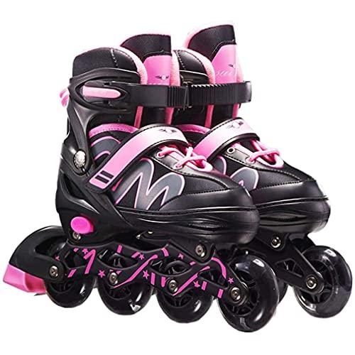 YLJXXY Patines en Línea para Niños Patines al Aire Libre Chico Chica Adolescentes Zapatos de Patinaje con Ruedas Iluminadas para Principiantes