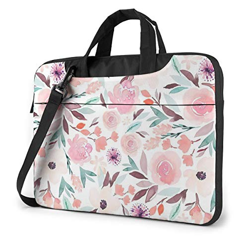 Flowers Laptop Shoulder Bag Compatible with 13-15.6 inch Computer for MacBook Pro/MacBook Air/Notebook Computer