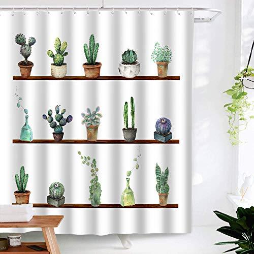 Shower Curtain Cactus Succulents