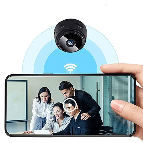 XIUNIA cámara oculta 1080P HD, mini cámara, mini monitor inalámbrico con cable USB y soporte magnético, función de visión nocturna y detección de movimiento