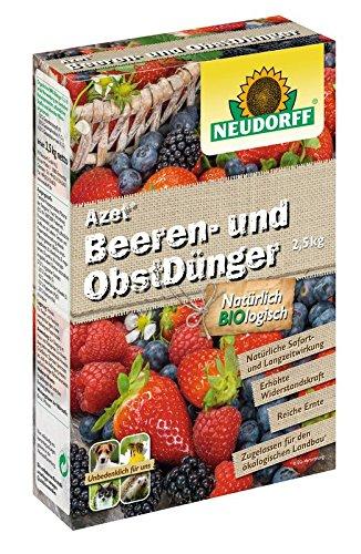 Azet Beeren- und Obstdünger mit Langzeitwirkung für gute und kräftige Fruchtbildung 2,5 Kg Packung 3,98 EUR/1 Kg