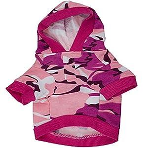 Chien Vêtement pour animal domestique Sweat Camo Camouflage manteaux à capuche Costume Chiens Vêtements Manteau pour Petit Chiens de taille moyenne