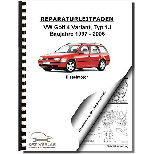 VW Golf 4 Variant 97-06 4-Zyl 1,9l Dieselmotor TDI 100-150 PS Reparaturanleitung