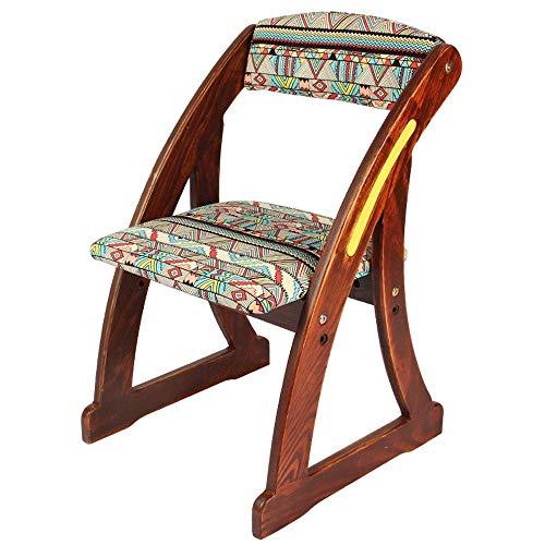Inklapbare houten voetensteun, draagbaar, mini mazar, salontruk, lowboard, massief hout, voor de woonkamer, volwassenen, schoenwissel, visstoel, eetkamerstoel, stoel Nunlea3860r-1 Nunlea3860r-1