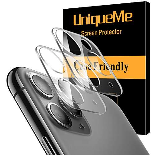 UniqueMe 2 Pack Protector de Lente de cámara para iPhone 11