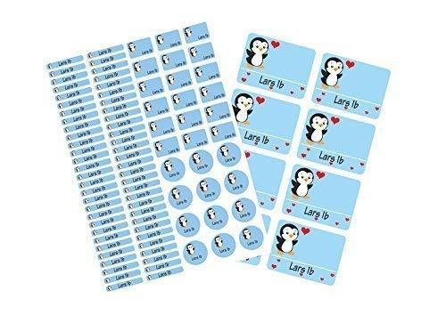 Mein Zwergenland Schulstarter-Set: Stickerbogen mit Namensaufkleber und Heftaufkleber Pinguin