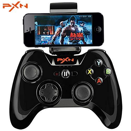 PXN MFi certifié 6603 Manette de Commande Bluetooth Joystick de Jeu Compatible avec iOS iPhone/iPad/iPod/Apple TV (Noir)