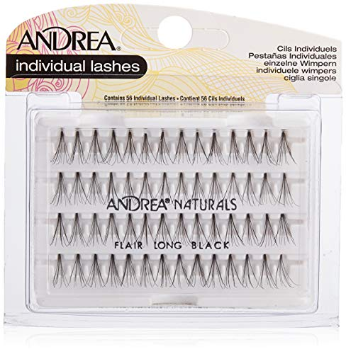 Andrea False Eyelashes Individual Lashes, Knot-Free Naturals Long Black