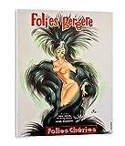 Tangerine Wall | Cuadro Vintage del Cabaret Folies Bergère | Tamaño: 30x40 cm | Sticky rígido para apoyar o Colgar sin Hacer Agujeros | Cuadros para decoración