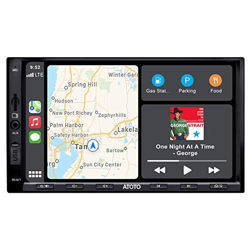 ATOTO F7 Series, Sistemas de vídeo Integrado para salpicadero, Conexión Android Auto y CarPlay, AutoLink, Carga del Teléfono, BT, Entrada de Cámara HD, hasta 2TB SSD (estándar 7in/D-DIN, F7G2A7SE)