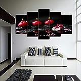 Cuadro de grupo de velas rojas impresas en HD, impresión en lienzo, decoración de habitación, póster impreso, lienzo de imagen