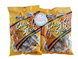 Atkinson's Sugar Free Chick O Stick Peg Bag 2 Pack - Delicious Individually Twist Wrapped Peanut Butter Nugget Candy with Refrigerator Magnet