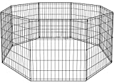 BestPet Metal Wire Playpen, 30 Inch Tall Black