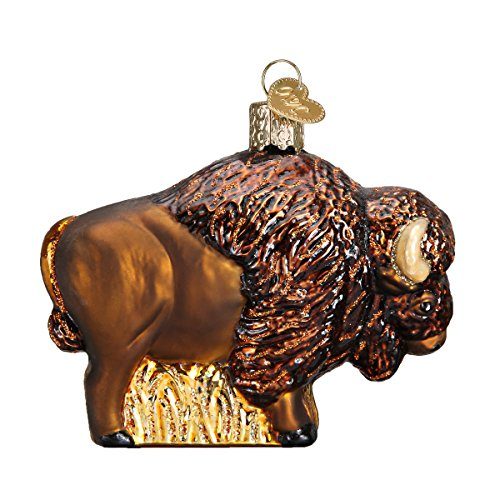 Old World Christmas Ornaments: Buffalo Glass Blown Ornaments for Christmas Tree (12131)