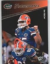 Tim Tebow / Aaron Hernandez - Florida Gators (Teammates)(Rookie Year Card) 2010 Press Pass NFL Draft Football Card Shipped in Protective Screwdown Case