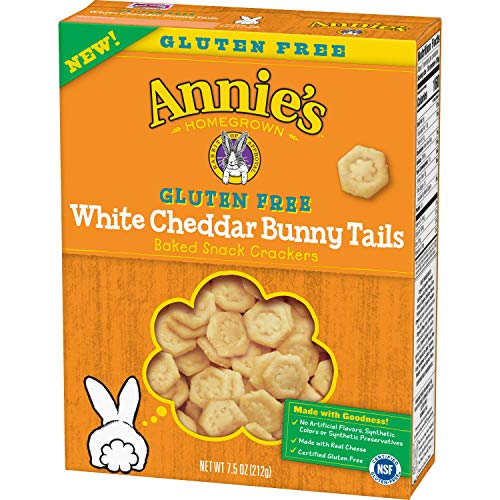Annie's Homegrown Gluten Free White Cheddar Bunny Tails Baked Snack Cracker, 7.5 oz