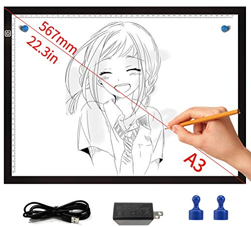 Diamond Painting Light Pad, with Protective Storage Bag, Ultra-Thin Portable A4 LED Light Box, Stepless Dimmable Light Board, Great for Diamond Painting, tracing, Drawing, Sketching etc.