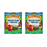 Tuttorosso No Salt Added Peeled Plum Canned Tomatoes, 28oz Cans (Pack of 2)