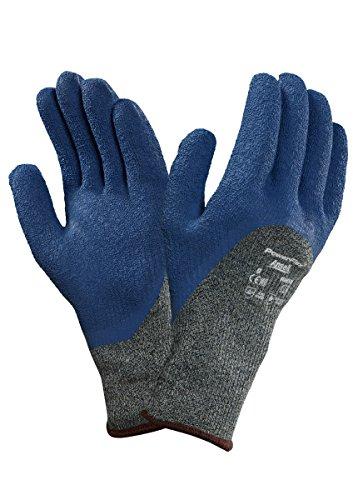 Ansell PowerFlex 80-658 Gants de protection contre les coupures, protection mécanique, Bleu, Taille 11 (Sachet de 12 paires)