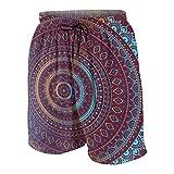 Meiya-Design Bañador para Hombre con diseño de Mandala Indio de Color Dorado, con Bolsillo Multicolor Multicolor XL