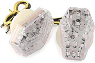 GZYF Motorcycle Turn Signals, Front Flush Mount LED Light Side Marker Lamps Compatible with Suzuki GSXR 600 750 1000 Bandit 600S 1200S 1250S