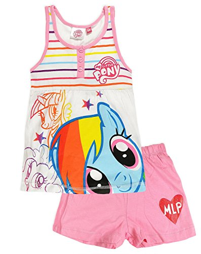 My Little Pony Juego de pijama de manga corta con licencia oficial para niños y niñas.
