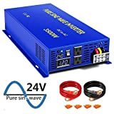 XYZ INVT 3500 Watt Pure Sine Wave Inverter 24V DC to 110V 120V AC, 3500W Power Inverter Surge 7000W...