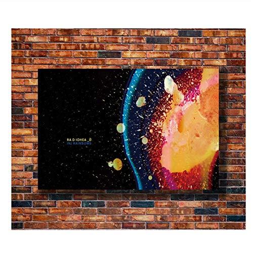 Suuyar Plakate Und Drucke Radiohead Psychedelic Trippy Geschenk Kunst Poster Leinwand Malerei Home Decor Drucke An Der Wand-50X70Cm No Frame