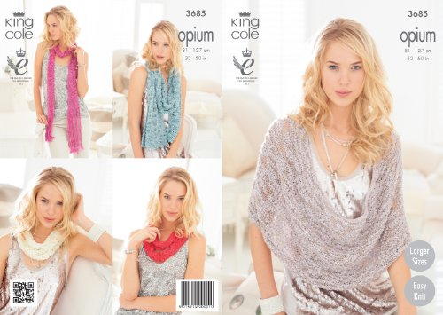 Koning Cole Womens Breien Patroon Dames Opium Gemakkelijk Gebreide Sjaal Snoods Poncho & Wrap 3685