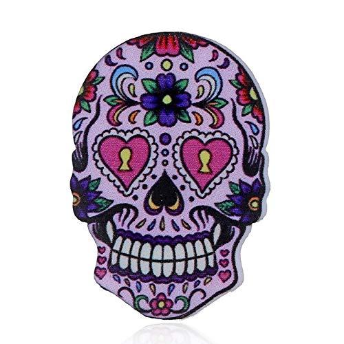 Punk Vintage acrílico esqueleto Pin broche de calavera gótica regalos de Halloween solapa insignia bolso de moda camisa sombrero chaquetas de cuero joyería