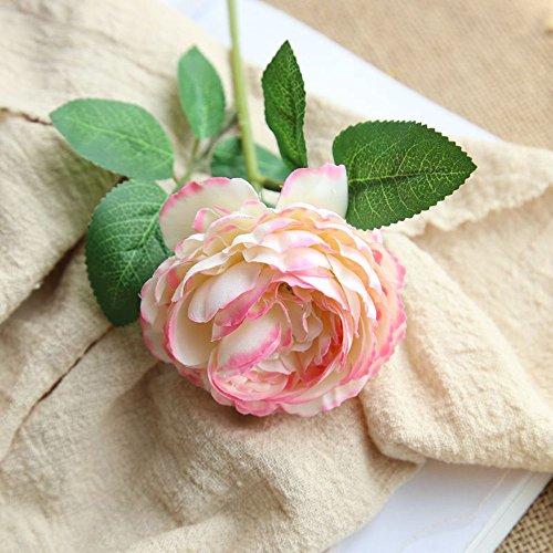 OHQ-Fausse Fleur Decoration Western Sac Rose Artificielle Tenant des Fleurs Iris Ibiscus Longue Lot Mousse Mini Noel Noir Exterieur Exotique Fleuriste (B, 1PCS)