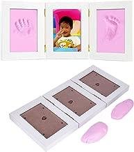Rosado Hztyyier Conjunto de Marco de Fotos para beb/és Kit de Marco de Fotos para Huellas y Huellas de beb/és reci/én Nacidos para Regalo de Almohadilla de Tinta de Tacto Limpio para beb/és