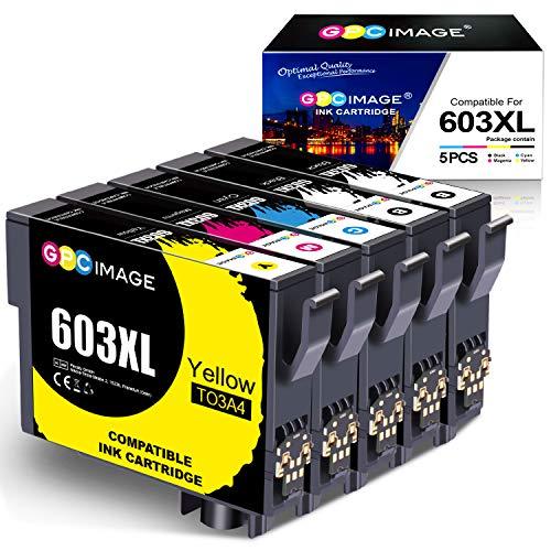 GPC Image 603XL Druckerpatronen Ersatz für Epson 603 603 XL Druckerpatronen für Epson Expression Home XP-3100 XP-4100 XP-2100 XP-2105 XP-3105 XP-4105 Workforce WF-2830 WF-2810 WF-2835 WF-2850(5-Pack)