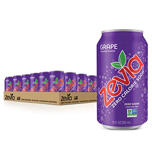 Zevia Zero Calorie Soda, Grape