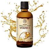 Aceite Vitamina E 100ml - 100% Naturales & Pura en Vitamina E - Tocoferol - Vitamin E Oil - Aceite Antienvejecimiento Contra Todo Tipo de Arrugas - Cuidado Facial - Cuidado Corporal - Cabello