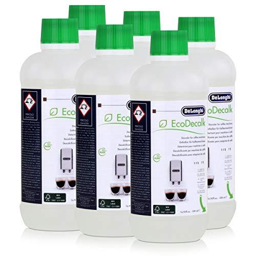 6er Pack DeLonghi Entkalker EcoDecalk für Kaffevollautomaten DLSC500 / 8004399329492 - 500ml