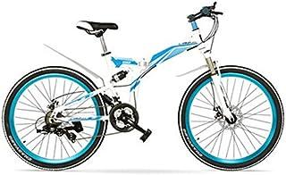 K660M 24/26インチ折り畳みMTBバイク、21速折り畳み自転車、ロック可能フォーク、フロント&リアサスペンション、ディスクブレーキ、マウンテンバイク