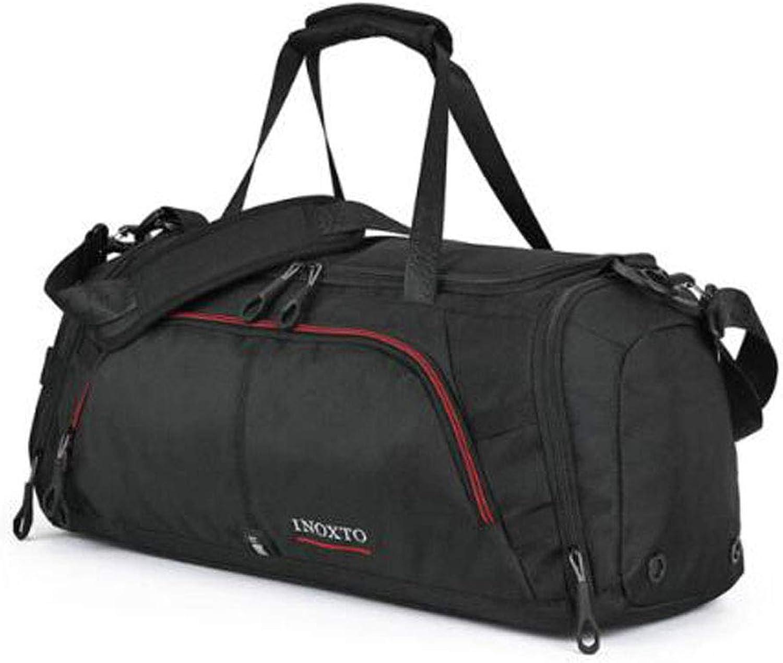Tongboshi Fitness Bag, Travel Bag, Large Capacity Short Travel Bag, Black Size  55  25  30cm Fitness Bag (color   Black)