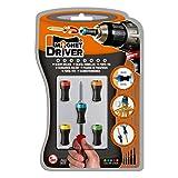 MAGNET DRIVER® SOPORTE MAGNETICO B50, adaptable a cualquier destornillador o taladro. Este blister contiene 5 soportes magnéticos Magnet Driver de diferentes medidas.