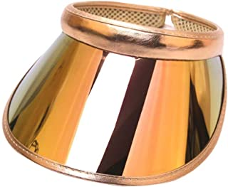 TENDYCOCO Sun Visor Hat Holograpohic Uv-proof Sun Cap Iridescent Summer Seaside Cap for Men Women (Black)