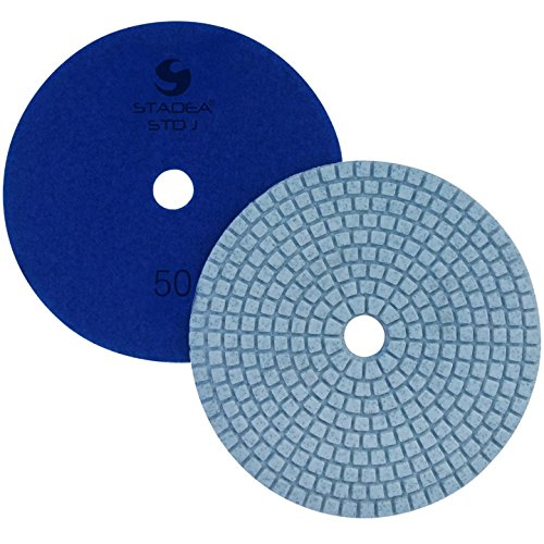 Stadea PPW209D Concrete Polishing Pads 5 Inch Grit 50 - Diamond Pads For Concrete Terrazzo Marble Floor Counter Wet Polishing - Pack of 2