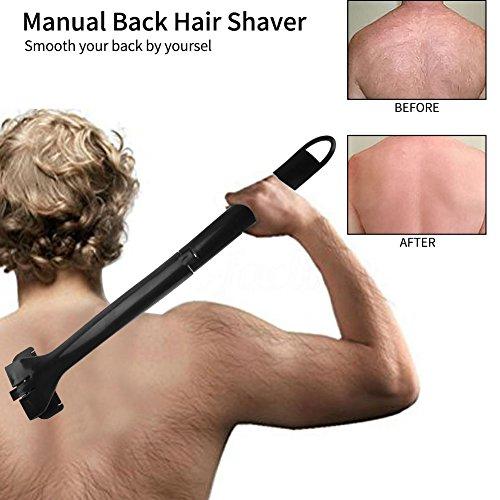Pijnloos scheermes, stripper, opvouwbaar rugscheermes, multifunctionele handmatige rug, scheermes, lange handgreep.