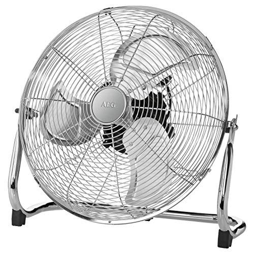 Bodenventilator Leise Retro 40 cm Lüfter Tischventilator Windmaschine (3 Flügel, Ventilator, Leiser Motor, Metall, Sicherer Stand)