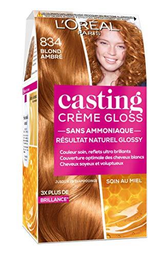 L'Oréal Paris Casting Crème Gloss Coloration Ton sur Ton pour Cheveux - Sans Ammoniaque - Blond Ambré (834)